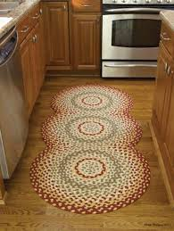 mill village braided rug 100 cotton 30 x 72 oval rug runner by