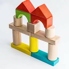mideer 50 pcs wooden building blocks