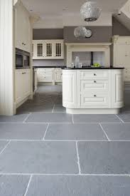 Stone Floors In Kitchen Kitchen Classic Grey Riven Slate Stone Mandarin For The Home