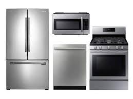 French Door french door range photographs : Kitchen. interesting Stainless Steel Kitchen Appliance Set ...