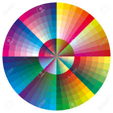 Color Calibration Chart Vector Color Palette Round Chart With 216 Colors For Calibration