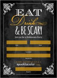 halloween invitations cards chalkboard vintage frame fill in the blank halloween invitation