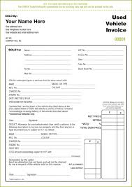 Free Used Car Sales Receipt Template Uk Car Invoice Template