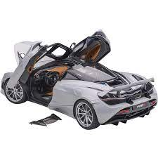 Mclaren 720s Glacier White Metallic With Black Top 1 18 Model Car By Autoart In 2020 Car Model Popular Kids Toys Car