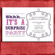 30th Surprise Party Invitations Invitation Cards