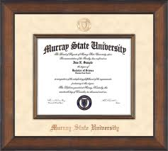 murray state u diploma frame metro bronze seal off white suede  image of murray state university diploma frame metro antique bronze w fillet