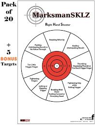 Pistol Shooting Error Chart Amazon Com High Visibility Handgun Diagnostic Shooting