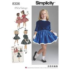 1950s Dress Patterns Adorable Simplicity 48 Child's Vintage 48s Dress And Lined Jacket