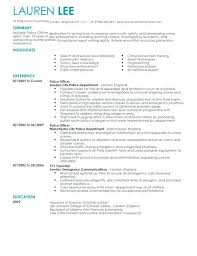 Police Resume Sample Corrections Officer Resume Example Police ...