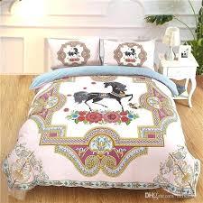 flower duvet cover print horse flower duvet cover set for kids s girls pink blue luxury