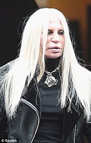 then and now donatella left in milan on wednesday and right