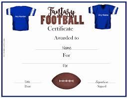 Make An Award Certificate Online Free Free Fantasy Football Awards Customize Online Print