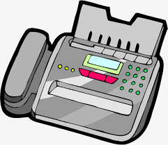 Fax Machine Electronic Cartoon Png And Vector For Free Download