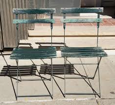 french bistro chairs metal. Other A Set Of Four Vintage French Bistro Folding Chairs For Sale Metal R