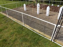 wire garden fence. To Connect The Sections Together I Used T-connectors And A Smaller Section  Of PVC Pipe Cut To Fit Height Chicken Wire Perfectly Then Screwed Garden Fence