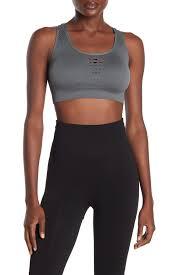 Zella Sports Bra Size Chart Z By Zella Olivia Seamless Laser Cut Design Sports Bra Hautelook