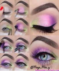 cute purple eye makeup tutorial