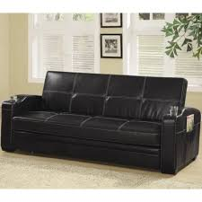 Coaster Sofa Beds and Futons Faux Leather Sofa Bed with Storage