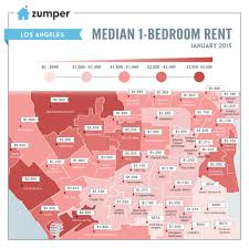 Mapping The Cheapest And Most Expensive Places To Rent In Los . 1 Bedroom  Loft Apartments Los Angeles ...