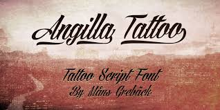 Angilla Tattoo Personal Use Font Fontspace