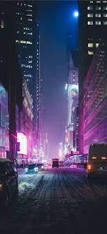 Iphone Wallpaper Neon City