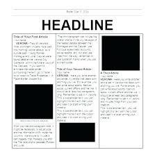 Newspaper Report Template Microsoft Word Free Word Newsletter Templates For Teachers School Microsoft