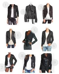 a collection of our favorite black leather jackets for diffe looks