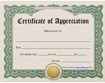 Free Printable Certificates Certificate Of Appreciation Certificate