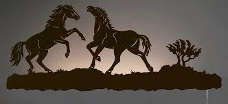wild horses back lit wall art 42 inch wall art sculpture night light cowboy western on wild horses wall art with wild horses back lit wall art 42 inch wall art sculpture night light