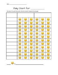 Editable Reward Chart Editable Emoji Daily Behavior Chart