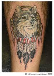 Beautiful Dream Catcher Tattoos Beautiful Wolf and Dream Catcher Tattoo Design TattooMagz 64