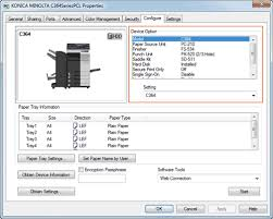 Download the latest drivers, manuals and software for your konica minolta device. Configuring The Default Settings Of The Printer Driver