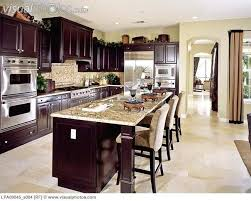 dark cabinets kitchen | Contemporary kitchen with dark wood cabinets  [LPA00045_a004] > Stock .