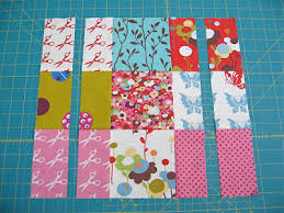 """Off the Grid"""" Sliced Nine Patch Quilt Â« Moda Bake Shop & Be sure to select strips of colors and/or patterns that might not already  appear in that 9-patch block. From each of the 4 strips, ... Adamdwight.com"""