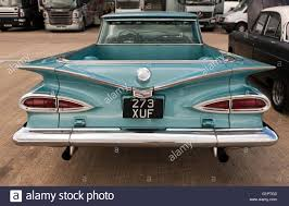 Rear view of a 1959 American Chevrolet El Camino on static display ...