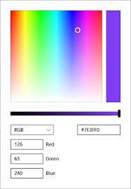 Color Picker Uwp Apps Microsoft Docs