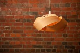 wood veneer pendant light shade wrap