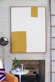 decoration: Attractive Diy Modern Art In Rectangle Shape Design With Brown  Wooden Frame Under Round