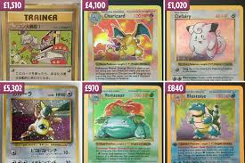 Pokemon Card Value Chart Your Old Pokemon Cards Could Be Worth Up To 5 300 We