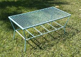 metal mesh patio furniture quintessential outdoor coffee table