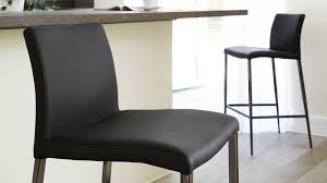 fixed height black leather barstools uk delivery