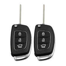 uxcell 2 Pcs 3 Buttons Flip Folding Uncut Key Remote ... - Amazon.com