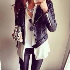 jacket jewels bag black perfecto leather jacket girly wishlist coat chic sunglasses blouse style leggings