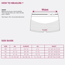 Boxer Size Chart Size Guide Chaffree