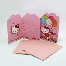 Hello Kitty Invitation Designware Hello Kitty Party Invitation Card 8pcs Envelopes Seal And Save The Date Stickers