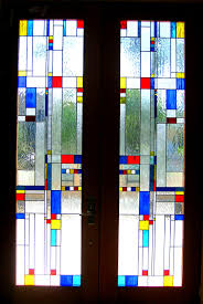 leaded glass french door