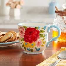 In stock on may 4, 2021. The Pioneer Woman Sweet Rose 14 5 Ounce Mug Walmart Com Walmart Com