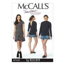 Mcalls Patterns New McCalls Patterns M48 Misses VBack RaglanSleeve Top and Dress