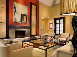 Asian Influence with a Warm, Comfortable Feel. asian-living-room