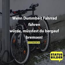 Wenn Dummheit Fahrrad Fahren Würde Müsstest Du Bergauf Bremsen